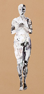 Collage staande vrouw