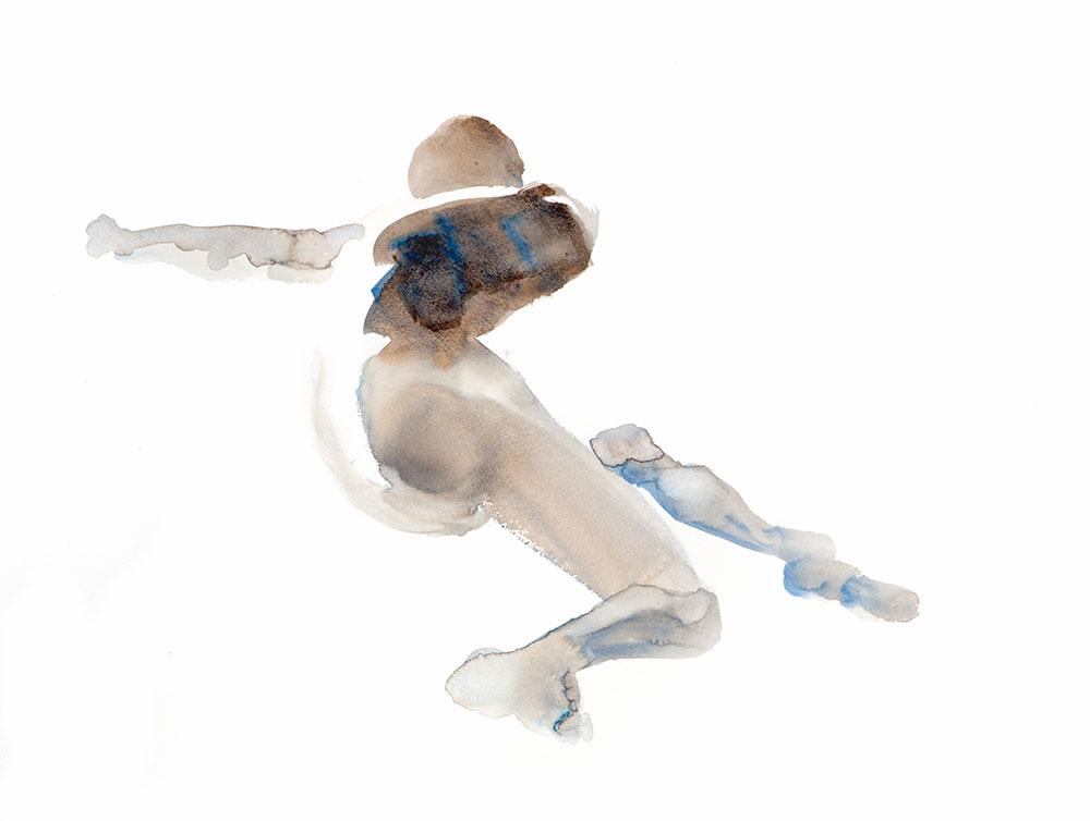 Aquarel mannelijk model