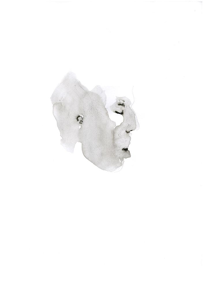 Tekening portret, inkt